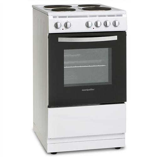 Montpellier MSE50W White Single Oven/Grill Electric Cooker.