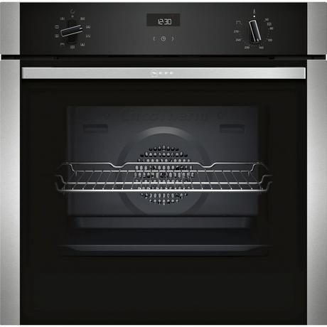 Neff B1ACE4HN0B Electric CircoTherm® Single Oven - Black/Steel