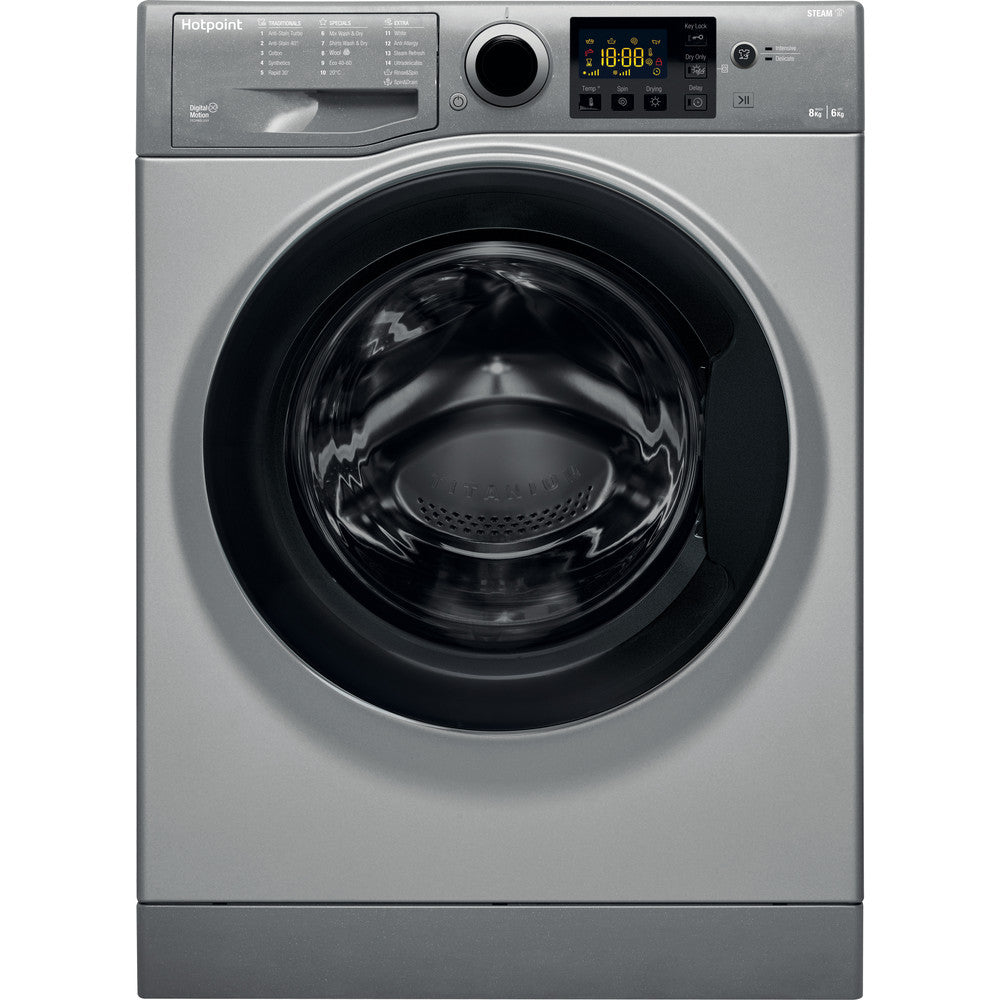 Hotpoint RDG8643GKUKN 8Kg Load Washer Dryer - Graphite