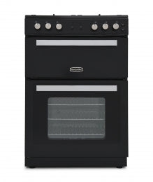 Montpellier RMC61DFK Black Dual Fuel 60cm Double Oven Cooker