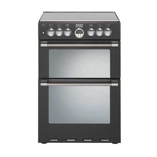 Stoves Sterling 600DF Blk Black 60cm Dual Fuel Mini Range Cooker