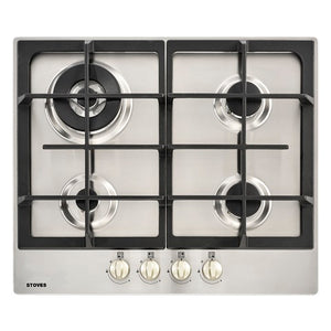 Stoves ST GHU60C Sta Stainless Steel 60cm Gas Hob