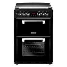 Load image into Gallery viewer, Stoves Richmond 600DF Blk Black 60cm Dual Fuel Mini Range Cooker
