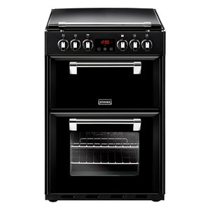 Stoves Richmond 600E Blk Black Electric Double Oven Cooker
