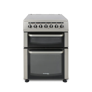 Montpellier TCC60S 60cm Twin Cavity Ceramic Cooker in Silver 'ECO'