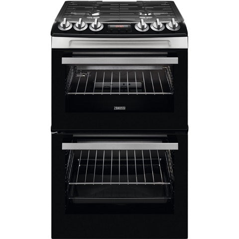 Zanussi ZCG43250XA Stainless Steel Double Oven Gas Cooker