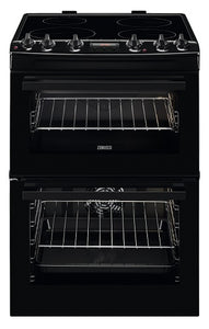 Zanussi ZCI66250BA Black Induction Hob Double Oven Cooker.