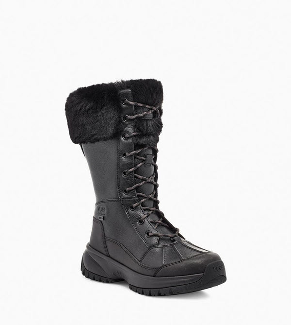 UGG Women's Yose Tall Fluff Boot in Black