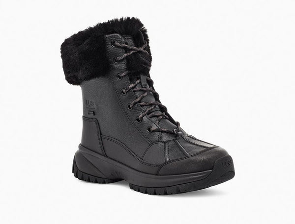 UGG Women's Yose Fluff Boot in Black
