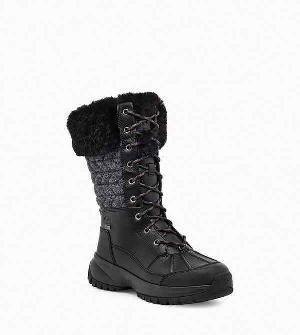 UGG Women's Yose Tall Quilt Boot in Black