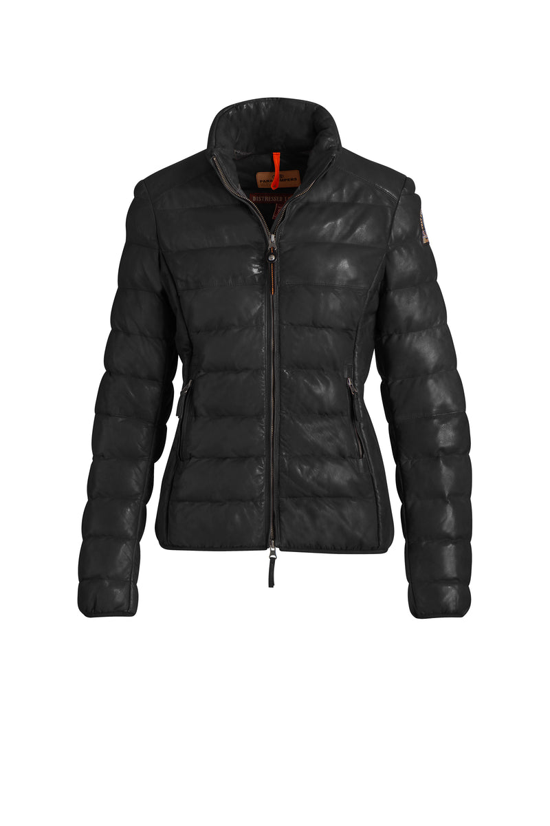 Parajumpers Jodie Leather Jacket in Black