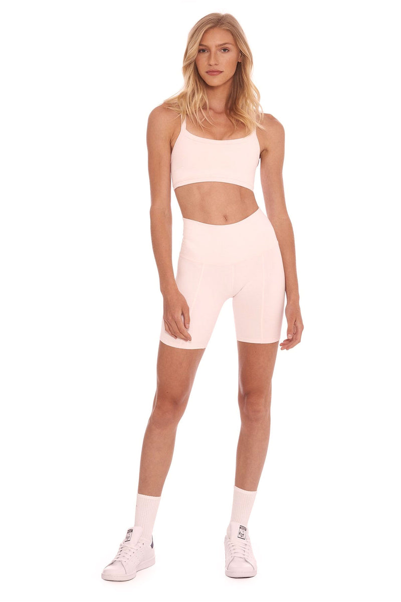 Morgan Stewart Sport Biker Short in Ballet