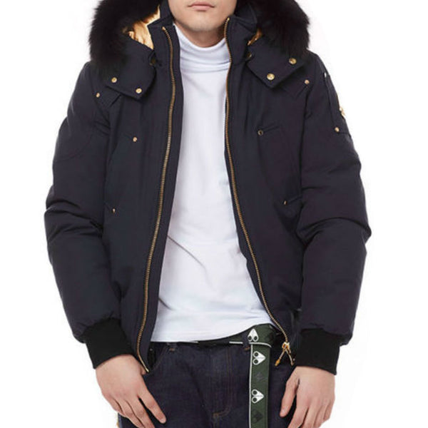 406a0c3fb Moose Knuckles Comeau Bomber in Navy – BOUTIQUE TAG