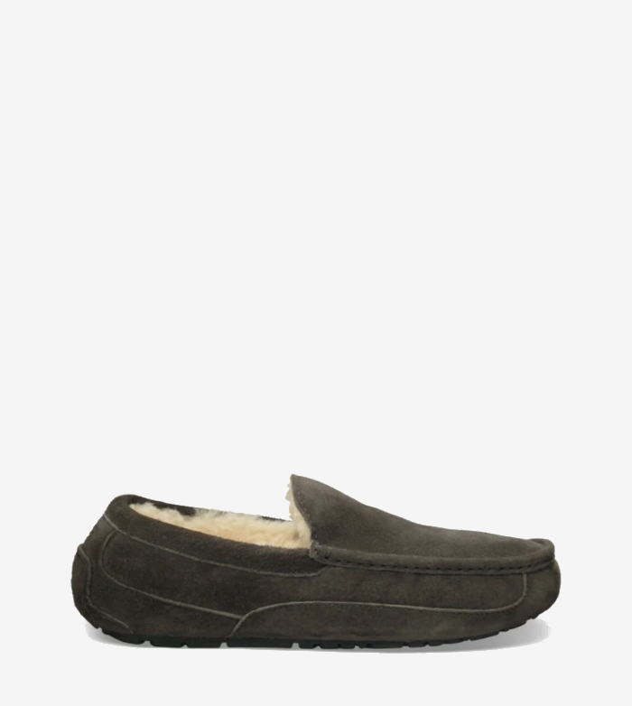 UGG Men's Ascot Moccasin Slippers in Charcoal