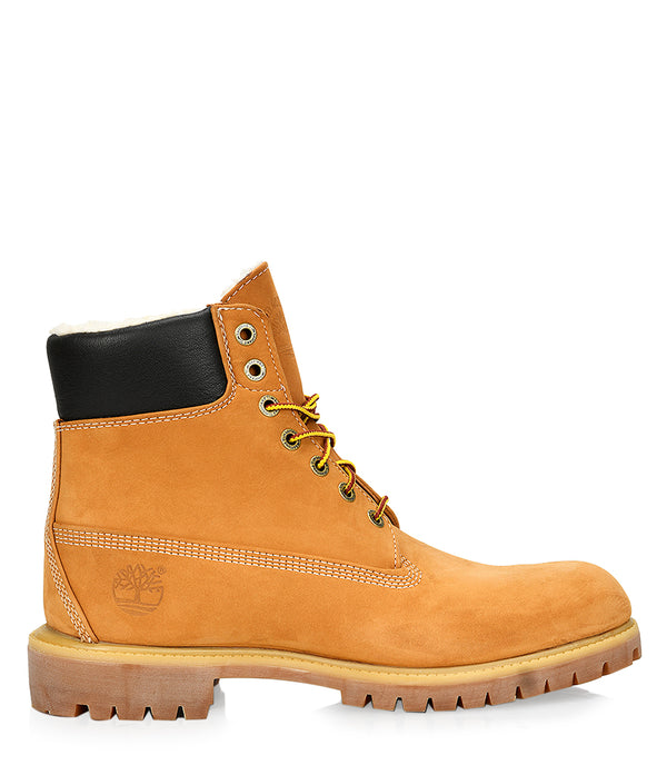 Timberland Men's 6-inch Premium Waterproof Warm Lined Boots in Wheat Nubuck