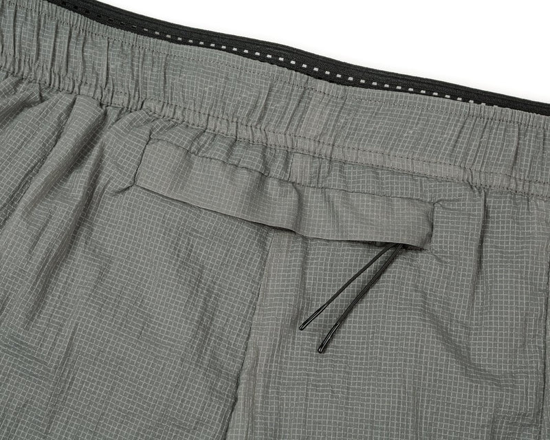 "Satisfy Coffee Thermal Short Distance 8"" Shorts in Steel"