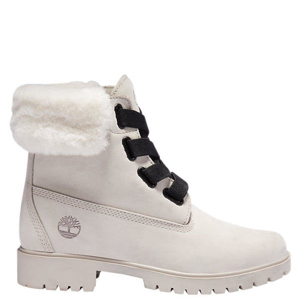 Timberland Women's Jayne Waterproof Convenience Boots in Light Taupe Nubuck