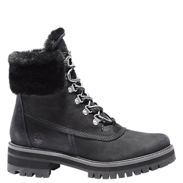 Timberland Women's Courmayeur Valley 6-inch Waterproof Boots in Black Nubuck