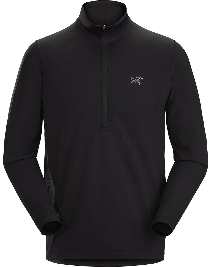 Arc'teryx Cormac Zip Neck LS Men's in Black