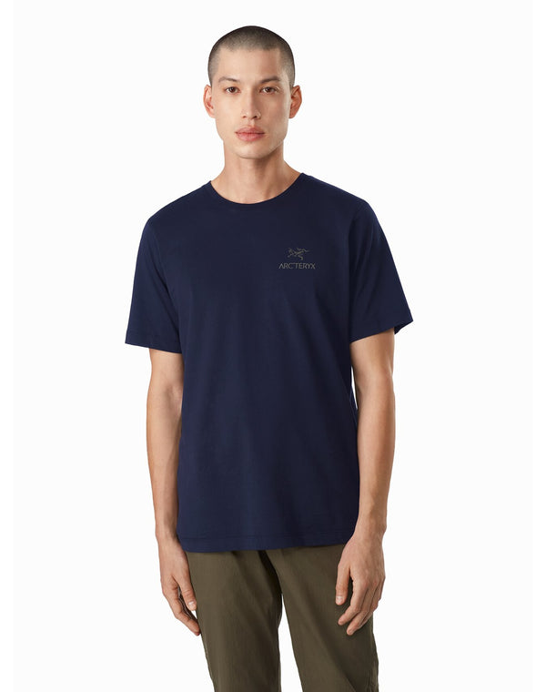 Arc'teryx Emblem T-Shirt SS Men's in Kingfisher