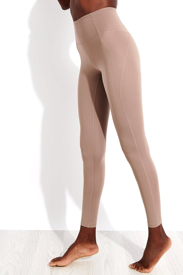 Girlfriend Collective Compressive High-Rise Legging in Limestone