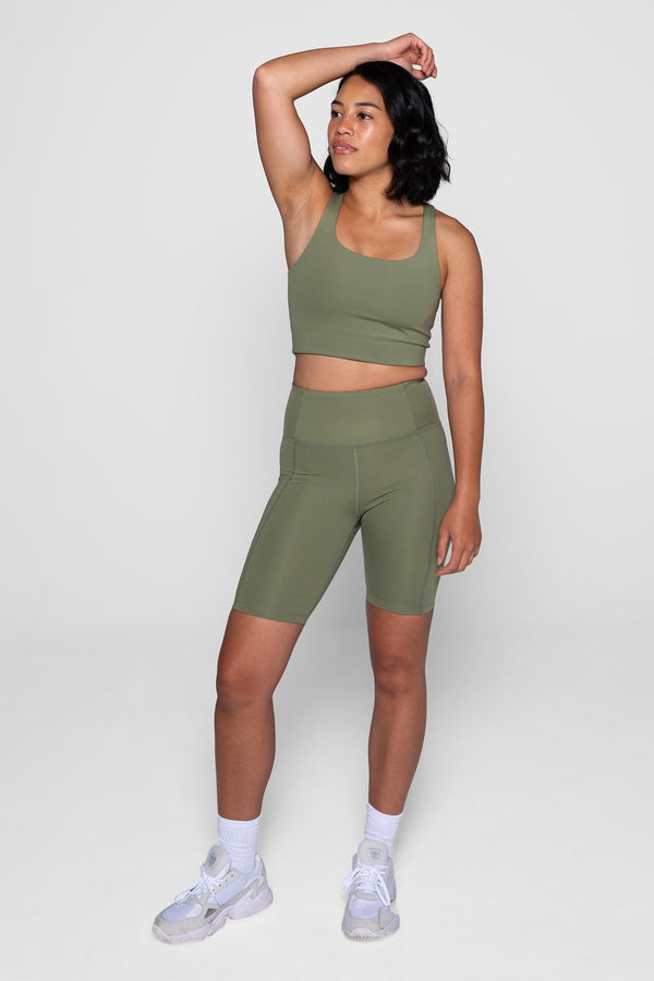 GIRLFRIEND COLLECTIVE High-Rise Bike Short - Olive