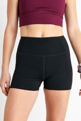 Girlfriend Collective High Rise Run Short in Black