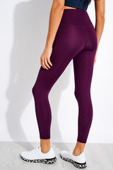 Girlfriend Collective Compressive High Rise Pocket Legging in Plum