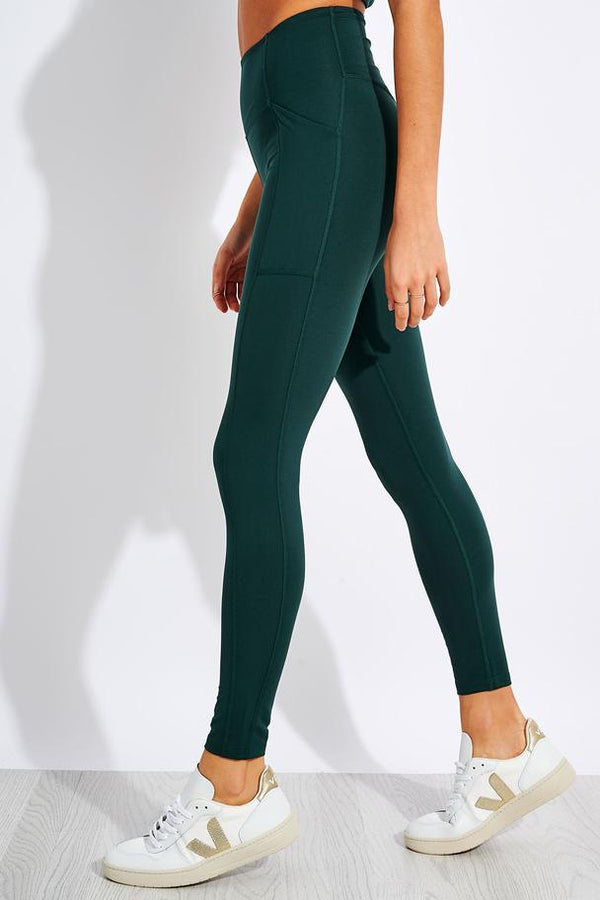 Girlfriend Collective Compressive High Rise Pocket Legging in Moss