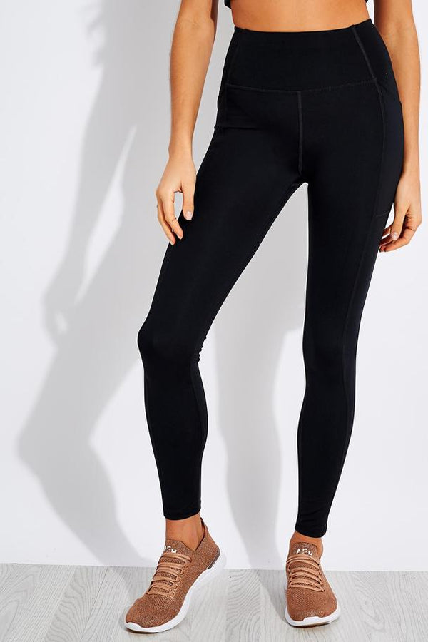 Girlfriend Collective Compressive High Rise Pocket Legging in Black