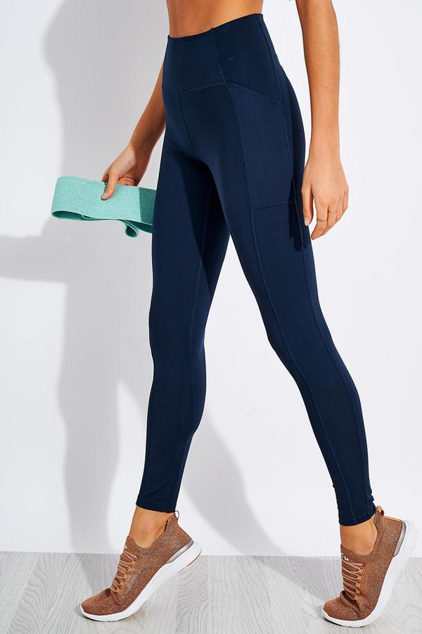 Girlfriend Collective Compressive High Rise Pocket Legging in Midnight