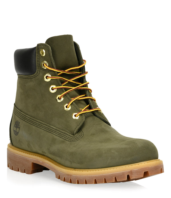 Timberland Men's 6-inch Premium Waterproof Boots in Dark Green Nubuck