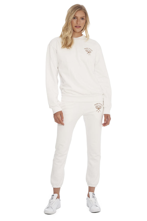Morgan Stewart Sport Sweatshirt in White