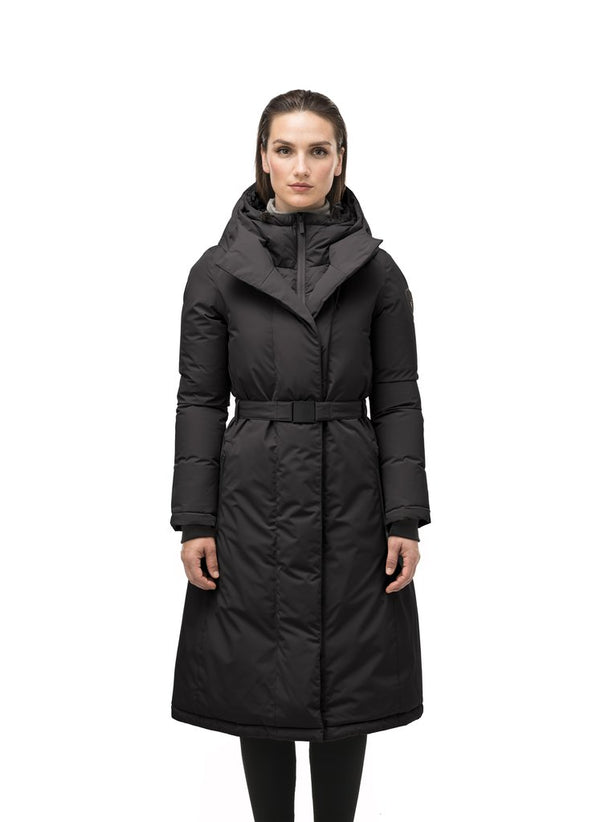 Nobis Ladies Lara Belted Parka in Black