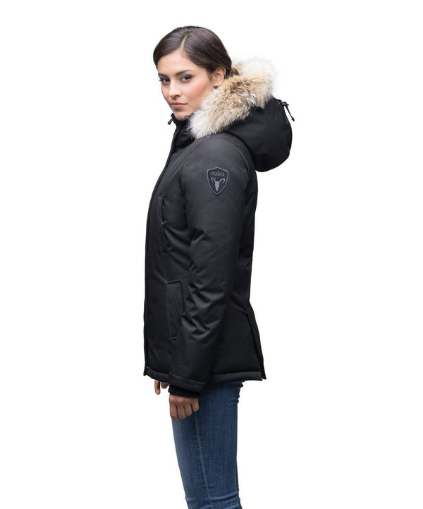 Nobis Ladies Lindsay Hip Length Parka in Black