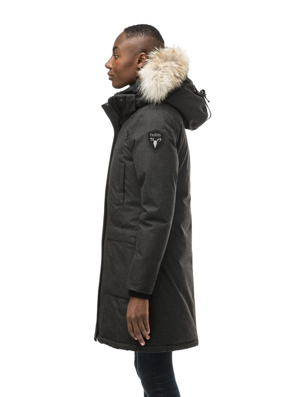 Nobis Ladies Merideth Down Parka in Heather Black