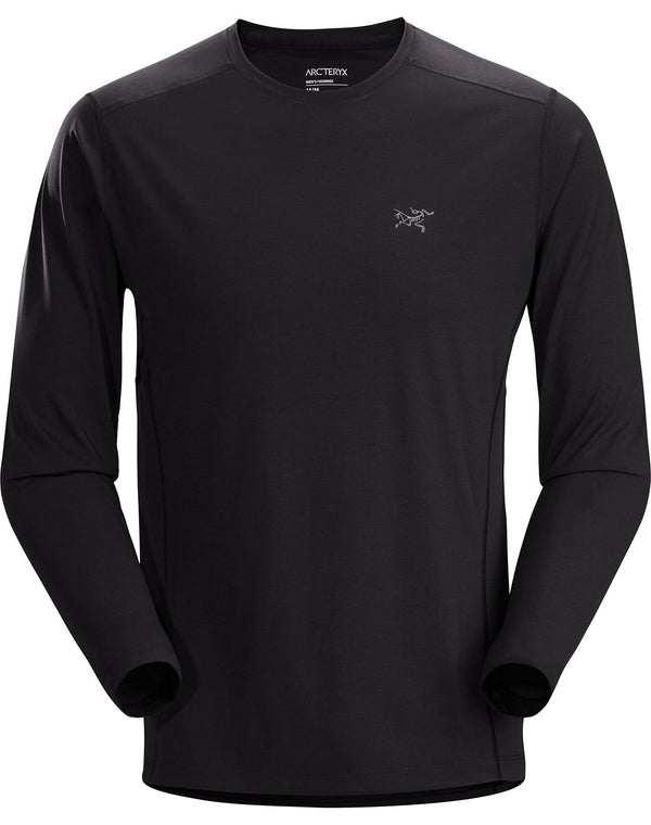 Arc'teryx Motus SL Crew Neck Shirt LS in Black