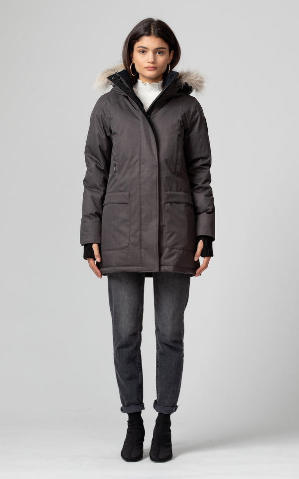 Nobis Ladies Carla Parka in Steel Grey