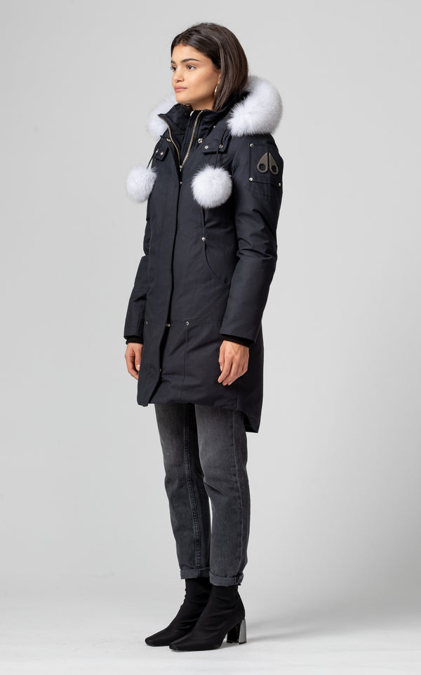 Moose Knuckles Ladies Stirling Parka in Navy