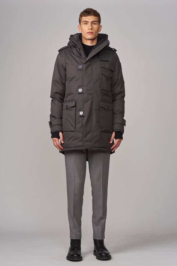 Nobis Men's Shelby Parka in Steel Grey