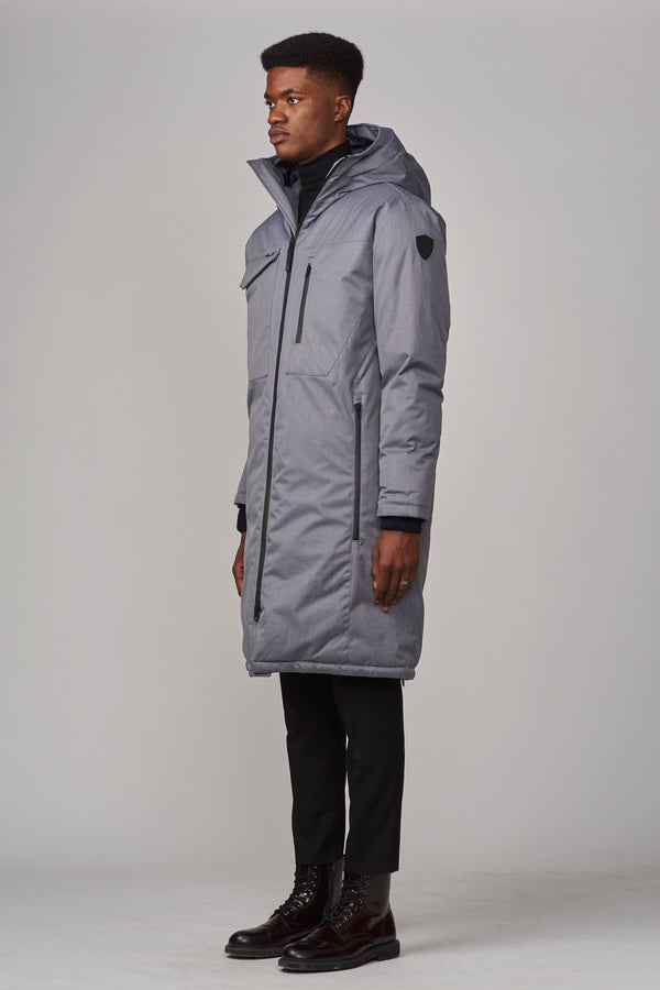 Nobis Men's Kane Utility Parka in Concrete