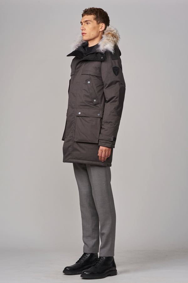 Nobis Men's Yatesy Parka in Steel Grey
