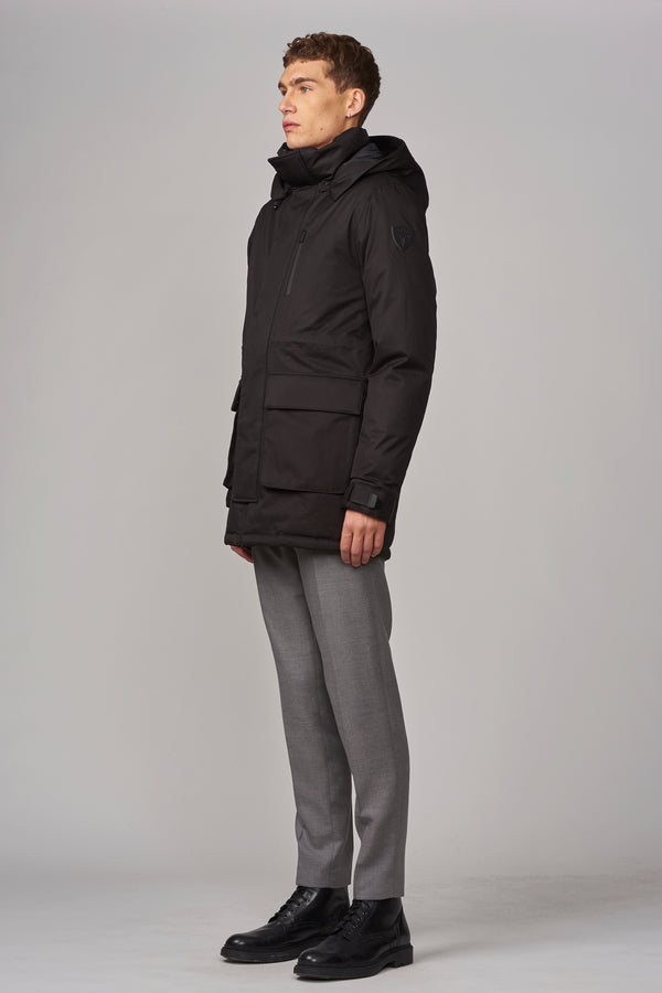 Nobis Men's Martin Hooded Parka in Black
