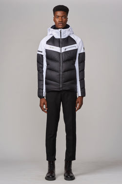 Descente Men's Barrett Jacket in Black/White