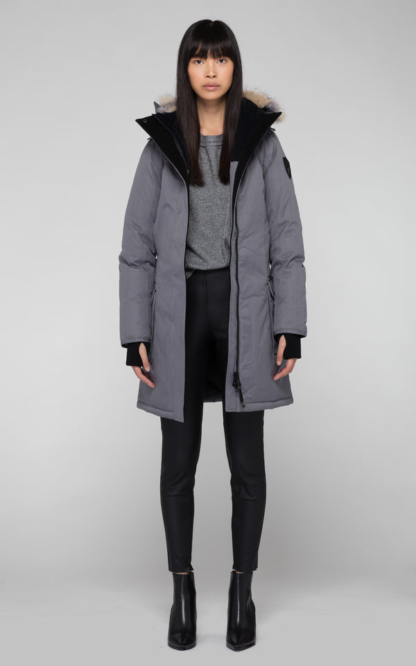 Nobis Ladies Abby Parka in Concrete