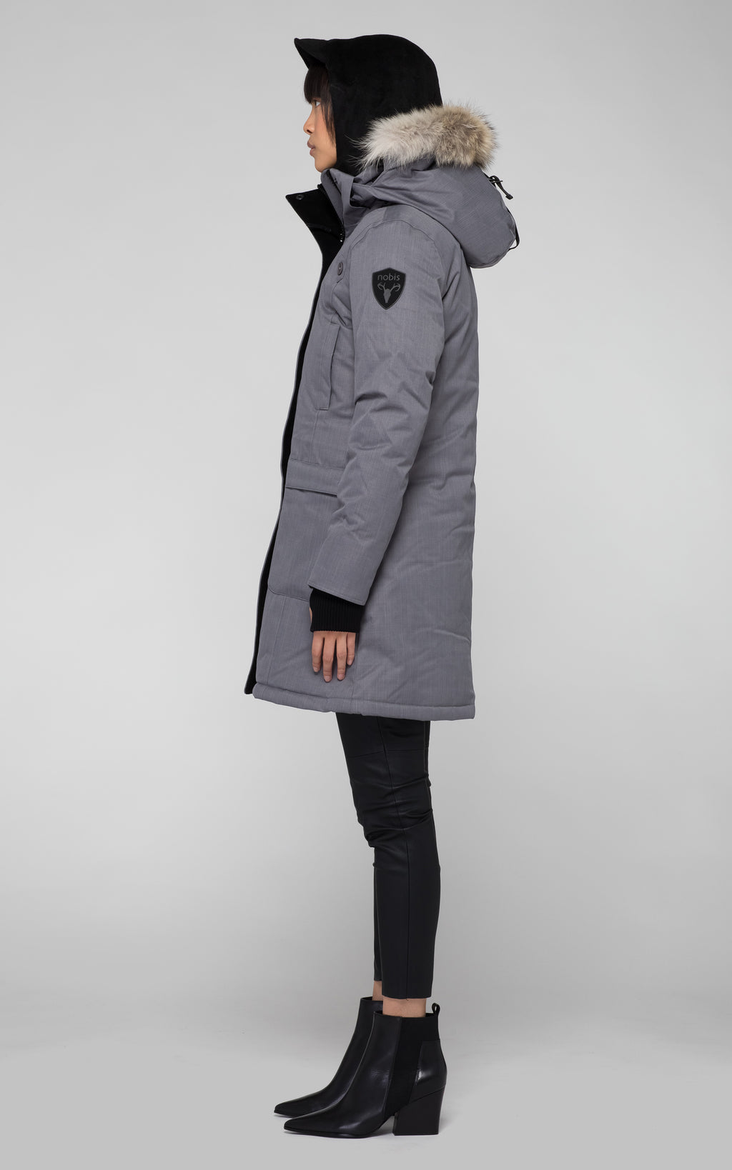 Nobis Merideth Ladies Down Parka in Concrete