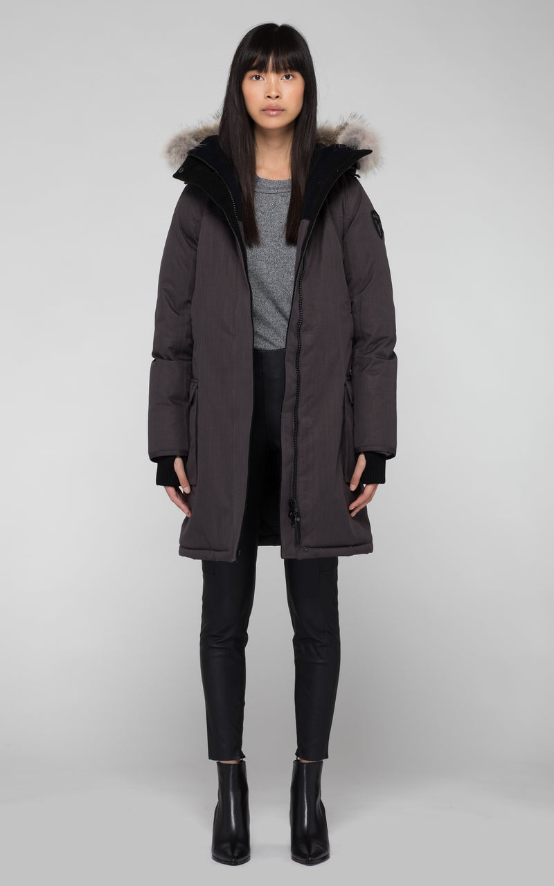 Nobis Ladies Abby Parka in Steel Grey
