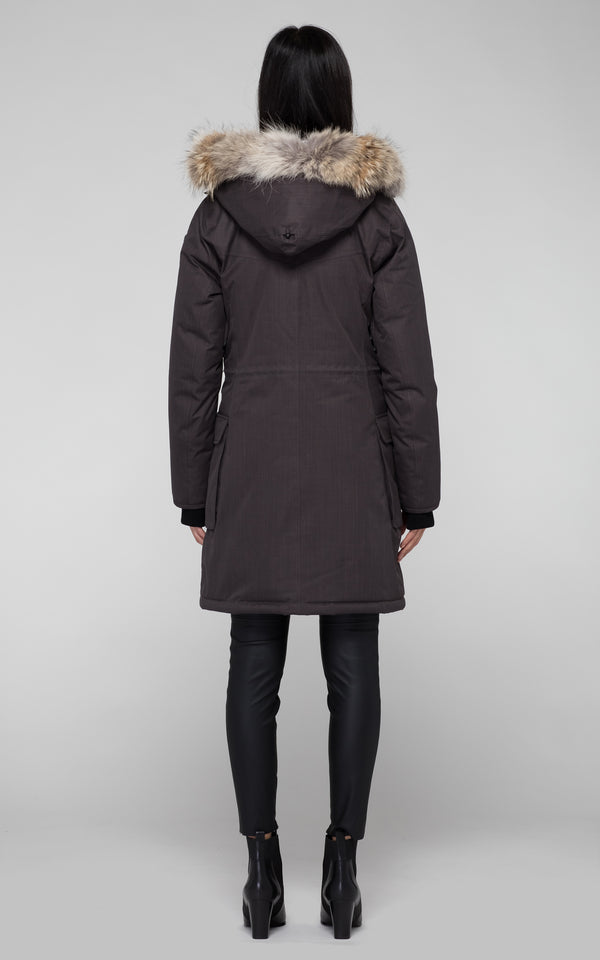 Nobis Abby Parka in Steel Grey - BOUTIQUE TAG
