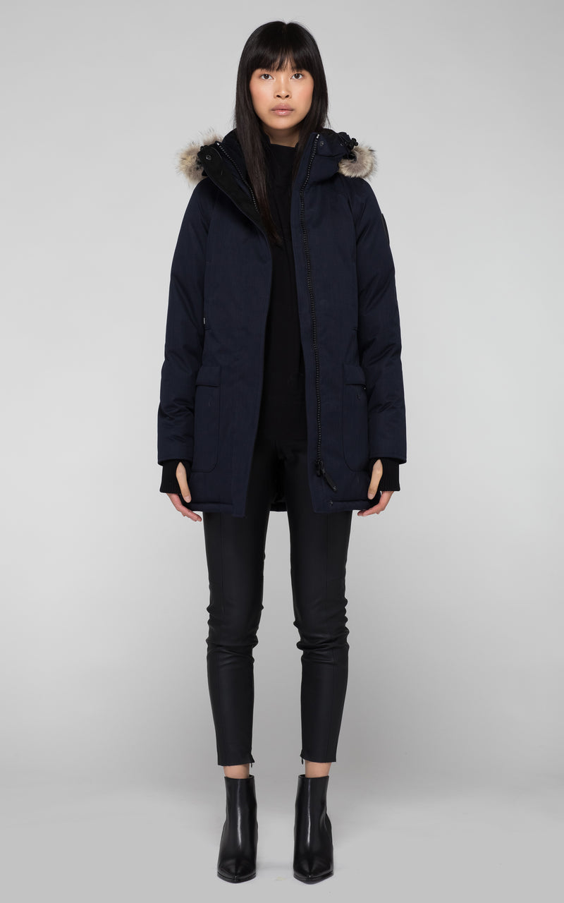 Nobis Carla Parka in Navy - BOUTIQUE TAG