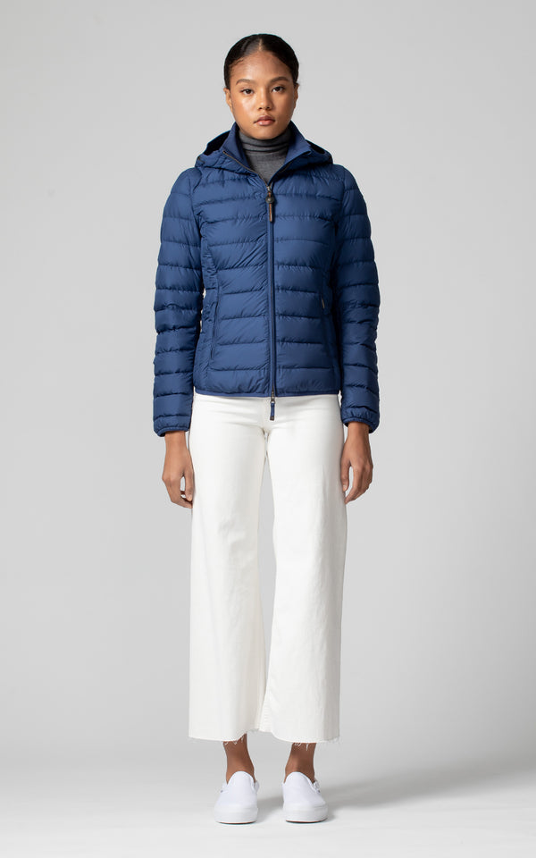 Parajumpers Women's Juliet Puffer Jacket in Navy Peony